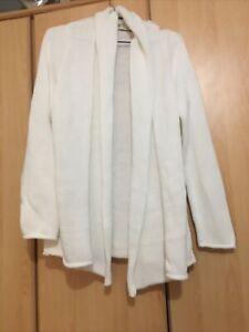 Viyella White Cardigan Size 16 100% Cotton