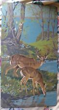 """Paint by Number Painting-10""""x18""""-Deer and Trees-Nice"""