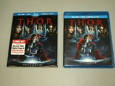 Thor Blu-ray/DVD, 2011, 2-Disc Set, with RARE slipcover MARVEL