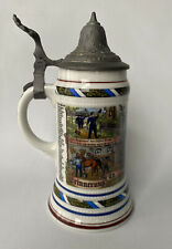 Erinnerung an meine Dienstzeit West Germany Beer Stein from BMF with Pewter Lid