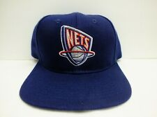 90's Vintage New Jersey Nets NBA Snapback Navy Hat Cap by Drew Pearson NEW!