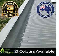 10m Corrugated Roof Box Gutter Aluminium Mesh Gutter Guard Install Kit.