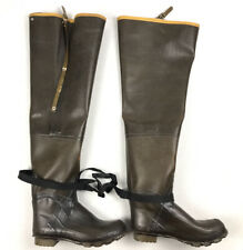 Vintage Lacrosse Size 13 Outdoorsman Rubber Thigh Hip Waders Fishing Boots Steel