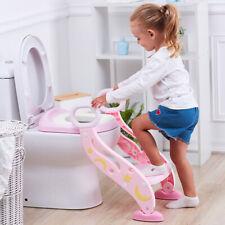 Siège Toilette Enfant avec Marche Echelle Pliable, Réducteur de Toilette Bébé