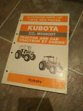 Kubota M9580dt Tractor And Cab Illustrated Parts List Manual