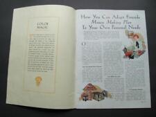 1920s Fireside Industries Pleasure & Profits Moneymaking Master Crafts ADRIAN MI