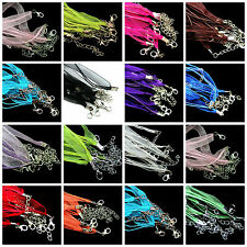 10pcOrganza String Ribbon Cord Necklace Lobster Clasp Chain Jewelry DIY Craftsk