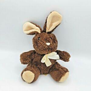 "Dan Dee Brown Chocolate Bunny Rabbit 9"" Plush Collectors Choice Stuffed Animal"