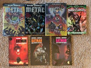 NEW Dark Nights Death Metal Deluxe Graphic Novel Lot Batman HC Hardcover TPB 1 2