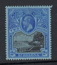 ST.HELENA SG80 1912 2/= BLACK & BLUE ON BLUE-Very lightly mounted mint