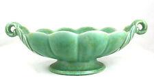 Vintage Shorter & Son Boat Mantle Vase Green Very Large Scalloped Leaf