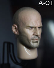 "Jason Statham 1/6 Male Head Sculpt Carving Doll Model for 12"" Figure Action Body"