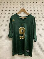 Vintage Adidas Notre Dame Fighting Irish Green #9 Football Jersey Size 2XL