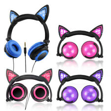 Foldable Cat Ear Overhead Children Kids Headphones Earphones for iPad iPhone