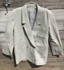 Vintage I Magnin Gray Lamb Leather Jacket Coat (Size 8)