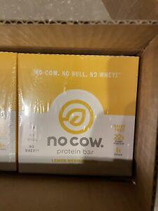 NEW BOX OF 12 No Cow Vegan Protein Lemon Meringue Pie   EXP 04/21