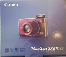 Canon PowerShot SX210 IS with Strap, A/C charger, battery, Manual, USB Cable IOB