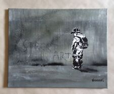 "Painting by Nikolay Nikolaev ""Street Art"" Stencil Graffiti signed like Banksy"