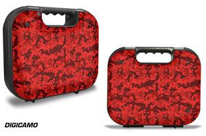 Skin Decal Wrap for Glock 18 19 21 22 43 9mm Pistol Gun Hard Gen 2,3 Case D CAMO