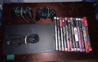 Sony PlayStation 2 PS2 Fat Console Bundle Lot w/2 Controller &  12 Game - TESTED