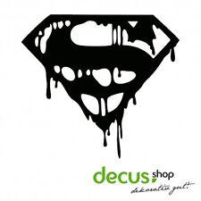 Superman Drip Blood Logo // Sticker JDM Aufkleber Frontscheibe