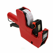 Duodeli Mx5500 8 Digits Price Tag Gun Labeler Red Pricemarker Labels Included