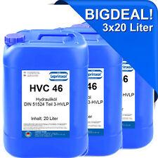 3x20l HVC 46 Hydraulikflüssigkeit Hydrauliköl DIN 51524 Teil 3-HVLP 46 60 Liter