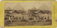 Egypte Les Pyramides Photo Frank M. Good Stereo Edition Eastern Series Albumine