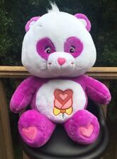 "Giant Care Bear 28"" Polite Panda Purple White Flower Large"