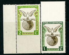 Dominica Republic Stamps # 433-434 VF OG NH Imperf Top Imperf Bottom