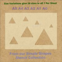 Simple Shape Triangles Stencil Strong 350 micron Mylar not Hobby stuff #SSS0011