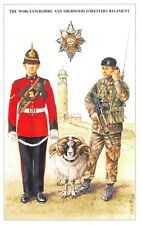 Postcard The British Army Series No.43 Worcestershire & Sherwood Foresters Reg.