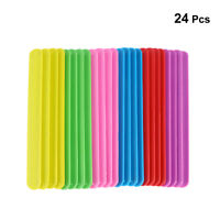 24pcs Rainbow Slap Bracelets Color Wristband for Kids Boys & Girls Party Favors