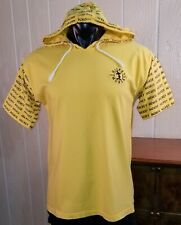 MICKEY Disney Label Yellow Hooded Mickey Mouse Short Sleeve T-Shirt Sz L.