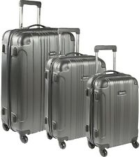 Kenneth Cole Reaction Luggage 4-Wheel Spinner Hardside 3-Piece (Charcoal)