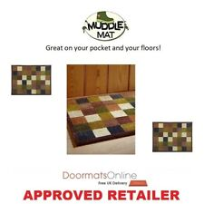 Muddle Mat From The Home of Hug Rug 75x50cm (CHECK 1 ) Door Mat Washable