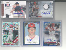 St. Louis Cardinals auto jersey serial # white sparkle 10 card lot Mikolas Baker