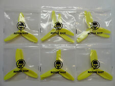 HQ Prop Yellow 5X4X3 5040 3 Blade 6 CW 6 CCW Quadcopter Propellers - 12 Props