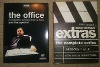 DVD Lot The Office 1 2 Special + Extras The Complete Series Ricky Gervais BBC
