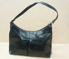 Black Leather Effect Hand Bag  J1563