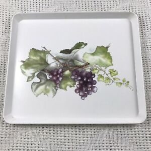 VTG Design Imports purple grapes on the vine melamine tray 12x10.5in