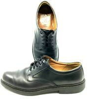 ECCO Oxfords Men's EUR 45 US 11-11.5 Black Leather Plain Toe Lace Up Dress Shoes
