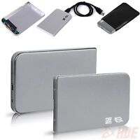 "Aluminum 2.5"" USB 3.0 SATA HDD Hard Drive Disk External Case Enclosure Silver"