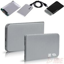 "Aluminum 2.5"" USB 3.0 SATA HDD Hard Drive Disk External Case Enclosure Silver"