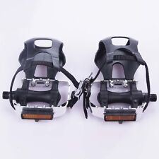 """Axle 9/16"""" Alloy Cycling Fixie Road Mountain Bike Bicycle Pedals Toe Clips"""