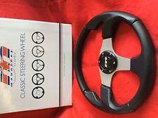 Defender 90 & 110 Moulded Steering Wheel 340mm M34M3PS (M RANGE) Silver centre