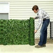 Falso Hoja de Hiedra Follaje Artificial Valla de Privacidad Pantalla Panel de jardín al aire libre de cobertura