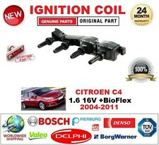 para CITROËN C4 1.6 16v + BioFlex 2004-2011 Bobina de encendido incluyendo BUJÍA
