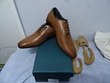Da Uomo Burton LONDRA Tan Reed Leather Lace-Up Scarpe UK 9 & EU 43 RRP - £ 55.00