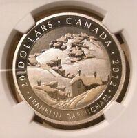 2012 Canada $20 Houses, Cobalt Franklin Carmichael NGC PF 70 Ultra Cameo Top Pop